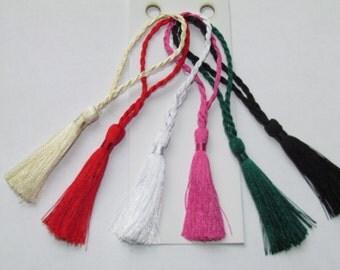 10pcs Cardmaking Bookmark Mini Tassels Craft Bridal Choice of colours - Invites, bridal, bookmarks