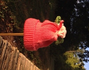 Newborn to 3 months  Flower Hat
