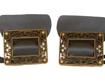 Filigree Colonial Shoe Buckles Great for Beethoven, Mozart, Handel, Bach, Noble Lords, Noble Ladies, and any Colonial Historical Figure