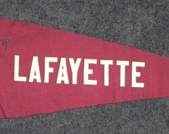 Circa 1910 Lafayette College Pennant.