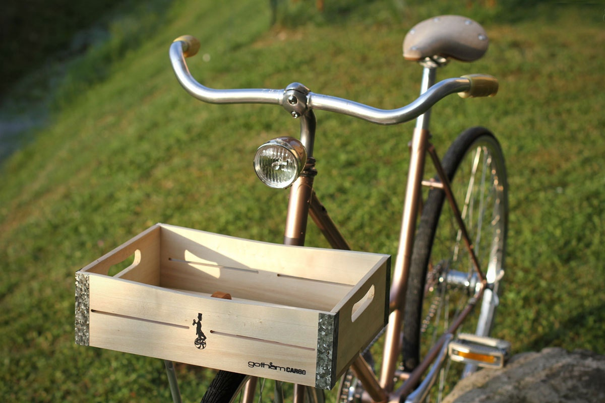 Handmade Bicycle Baskets : Handmade wooden bicycle basket laurel in natural by