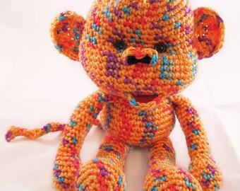 "Crocheted ""Milo"" the Monkey"