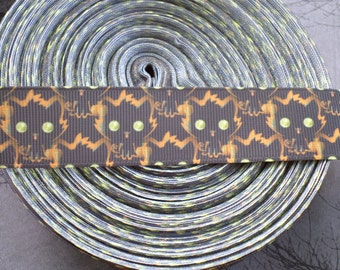 Halloween Kitty Grosgrain Ribbon