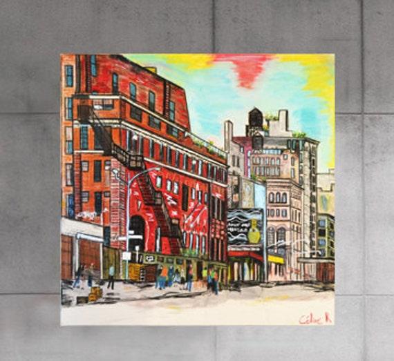 soho d coration murale new york art peinture sur toile 100. Black Bedroom Furniture Sets. Home Design Ideas