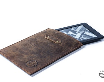 Leather KINDLE PAPERWHITE CASE sleeve cover genuine real brown tan handmade Amazon