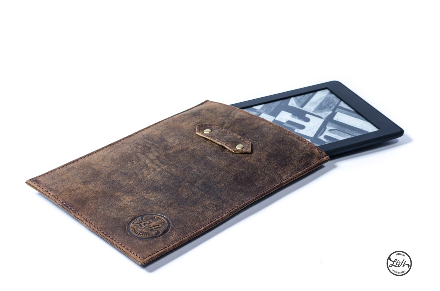 Leather KINDLE PAPERWHITE CASE sleeve cover genuine real brown