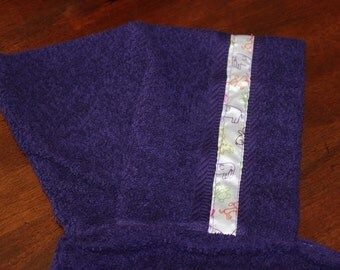 Animal Hooded Towel, Purple - For babies, toddlers, preschoolers and beyond!