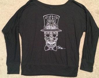 Bella + Canvas Ladies' Flowy Long-Sleeve Off Shoulder T-Shirt