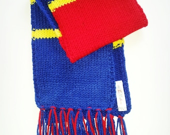 Barcelona Team Light colors Boy's Scarf with Strings