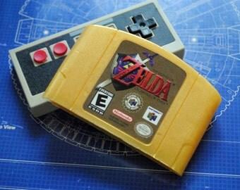 N64 Golden Parody Zelda Cart Soap: Retro and geeky! Handmade cartridge soap