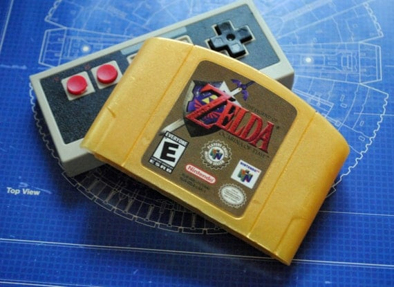 N64 Golden Zelda Cart Soap: Retro and geeky! Handmade cartridge soap