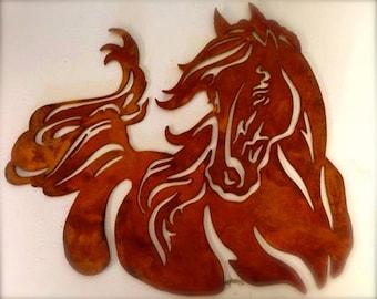 Horse - Dancing Mare - Outdoor Horse Wall Art - Horse Wall Art Metal - Horse Metal Art - Horse Metal Wall Art Rustic - Metal Wall Art Horse