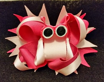 Hootie Owl Stacked Boutique Bow