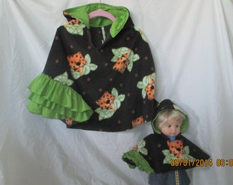 Matching capes for Girls and American girl or bittsy baby