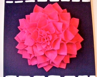 3D Flower Wall Canvas