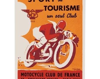Vintage Replica Art. Funky Motorcycle Art