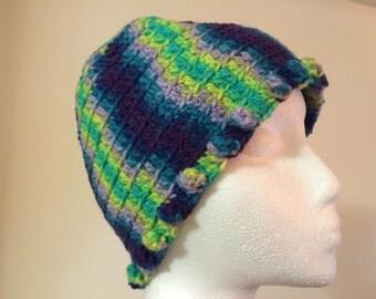 Womens crochet multicolor hat