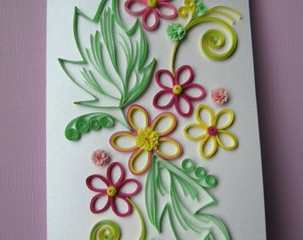 Quilling Greeting Card - Wedding-Anniversary-Birthday