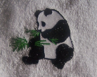 Personalised embroidered Panda bath towel (100% cotton)