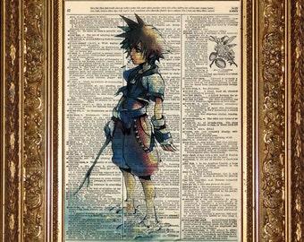 Sora Island (Kingdom Hearts) Print