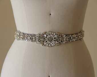 Crystal Wedding Belt, Bridal Accessory made of Crystal Rhinestones, Bridal Belt, Crystal Wedding Belt.