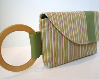 SALE Striped Clutch Bag, Wristlet Bag, Evening Clutch Bag, Girls Night Out Bag, Tricia Bag