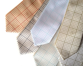 Graph paper necktie. Engineering grid paper tie.  Silkscreened men's tie. Perfect math teacher, science, engineer, design or geek gift.