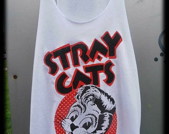 Stray Cats-Tank Top-Handpainted