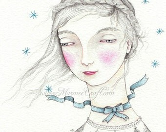 "MarmeeCraft art print, ""A Ribbon of Stars"""