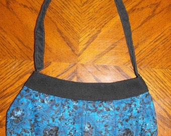 Blue Paisley Print Small Buttercup Bag