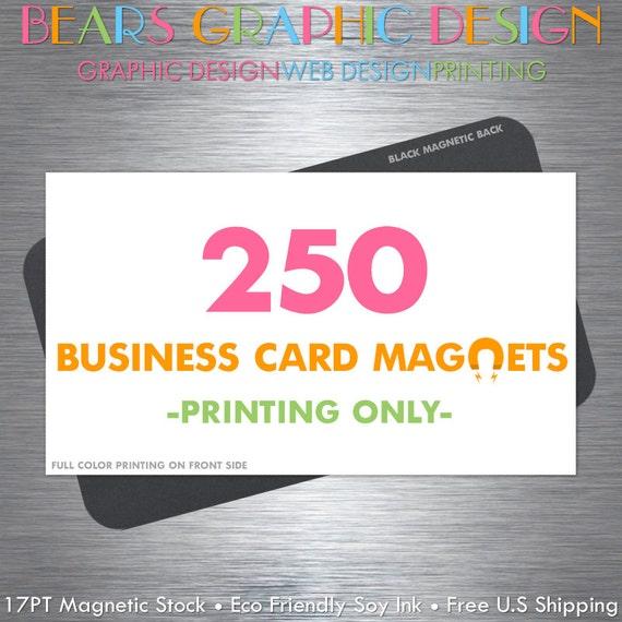 Business Card Magnets 250 Magnets Fridge Magnets Full