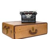 Vintage Striped Tweed Wardrobe Suitcase