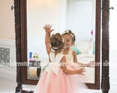 Flower Girl Dress, As Seen on Pinterest Blush, Peach Flower Girl, Flower Girl Toddler, Tulle Flower Girl, Tutu Tulle Dress, Princess Dress