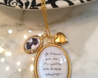 Jane Austen Necklace, Quote Necklace, Jane Austen Quote Necklace, Emma Prose If I loved you less…Necklace, Jane Austen, Emma Prose, Literary