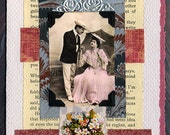 Collage Love Card Veiled Wooing