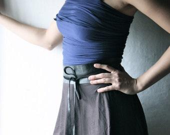 Obi Belt, Leather belt, Womens belt, Black belt, Wide leather belt, Tie belt, Wide Wrap belt, Wide belt, Steampunk accessories Medieval larp