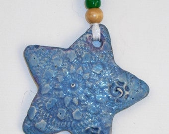 Sculpted Ceramic Star Ornaments With Bead Accents Now in New Colors