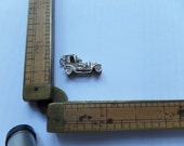 Old Automobile European Made Silver Charm / Pendant