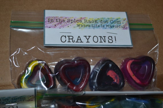 Four Heart Shaped Recycled Crayons