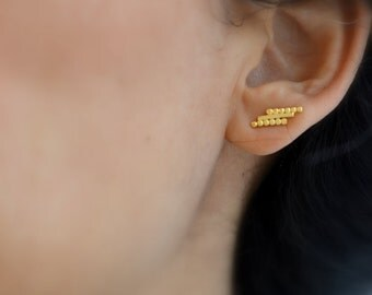 Maud . studs . earrings in gold vermeil  or silver