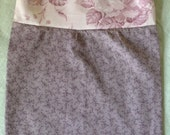 Empire Waist Baby Girl Dress RTS 3-6 Month Cotton Pale Pink Roses Shabby Chic Flowers