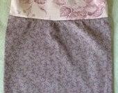 Empire taille bébé fille robe RTS 3-6 mois coton Roses rose pâle fleurs Shabby Chic