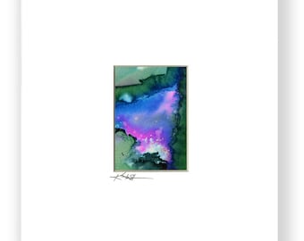 In Harmony Series..No.6 - Original Abstract  Meditation Painting in 8x10 mat by Kathy Morton Stanion EBSQ