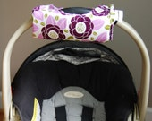 Cute NEW DESIGN Bloom and Lattice REVERSIBLE Car Seat Handle Arm Pad with Hand Grip