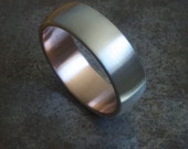 Silver and Rose Gold Wedding Ring