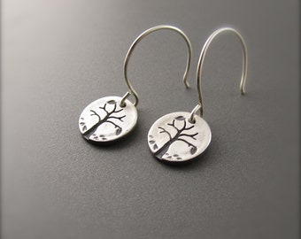 Mini Silver Four Seasons Series - Autumn Tree Earrings