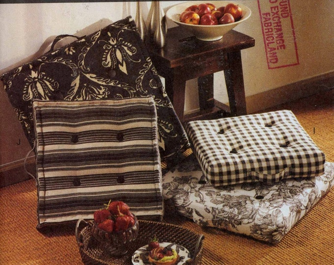 Floor pillows pattern home decor pillows Boho chic decor sewing pattern Vogue 7567 Patterns for living Uncut
