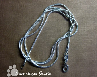 1mm Silver 24 inch Snake Chain Necklace