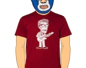 Buddy Holly Calavera Men's T-Shirt Small, Medium, Large, X-Large in 5 Colors