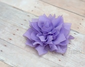 Lavender Flower Hair Clip - Lotus Blossom - With or Without Rhinestone Center